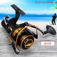 14BB Front and Rear Brake Carp Saltwater Freshwater Fishing Reel Wheel Speed