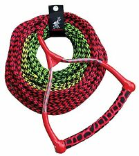 New! Airhead 3-Section Water Ski Rope with Radius Handle and Eva Grip Wakeboard
