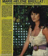Coupure de presse Clipping 1974 Marie Hélène Breillat  (1 page)