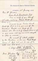 The Commercial Bank of Scotland Limited 1920 Interest Letter to Solicitor  41658