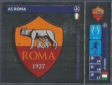 PANINI UEFA CHAMPIONS LEAGUE 2014-15- #024-AS ROMA BADGE-SILVER FOIL