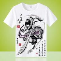 Anime Uchiha Sasuke Unisex Men Cool Otaku Casual T-shirt Tops Tee Short Sleeve