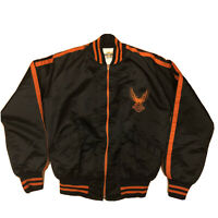Vintage AMF Harley Davidson 70s 80s Nylon Eagle Quilted Bomber Motorcycle Jacket