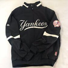 MLB New York Yankees Majestic Therma Base Fleece Lined Jacket Size 2XL Dark Blue