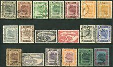Brunei 1924-37 wmk. Script CA 1c-$1 SG 60-78 used (cat. £200) $1 creased