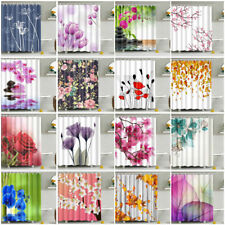 Beautiful Flower Tree Fabric Waterproof Bathroom Shower Curtain With 12 Hooks