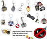 Keyring Multi-listing keychain metal quality marvel DC movie star wars pokemon