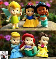 Lote 6 Figuras bebé princesas Disney