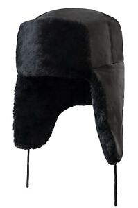 Borsch Russian Fur Hat Ushanka Natural Sheepskin Genuine Leather Made in Russia