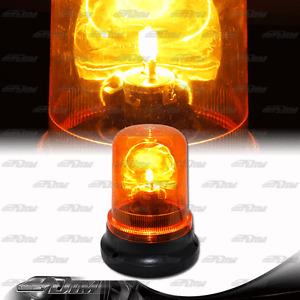 Amber Magnetic Mount Emergency Warning Rotating Flash Beacon Strobe Light Warn F