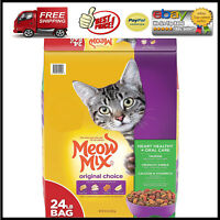 Meow Mix Original Choice Dry Cat Food Heart Health  Oral Care Formula 24 lbs
