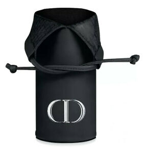 Dior Makeup Brush Pouch Case Holder Cosmetics Black Faux Leather Large BNIB