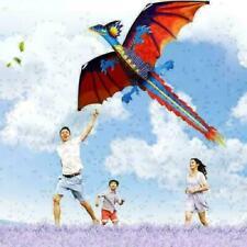 NEW Klassisch 3D Drache Drachen Einzeln Kite mit Bootsheck Außen Spielzeug