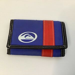 Quiksilver Australia Surf Wallet Trifold Blue and Red Zipper Coin Section
