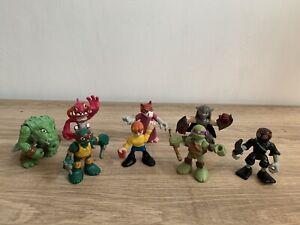 Teenage Mutant Ninja Turtles Half Shell Heroes X8 Figures TNMT Imaginext In VGC