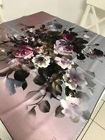 Belli By Armine 100 % Seidentuch 90x 90 cm Twill  Retro Modisch Luxus Rosen