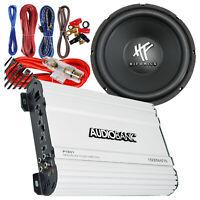 """Hifonics HFX12D4BK 800W 12"""" 4 Ohm DVC Subwoofer + Amplifier 1600W + 8 Gauge Kit"""