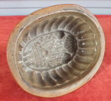 ART POPULAIRE MOULE A BEURRE TERRINE TERRE CUITE VERNISSEE BUTTER MOLD (1)