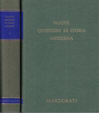NUOVE QUESTIONI DI STORIA MODERNA 2 VOLUMI 1970 LIBRO MARZORATI EDITORE