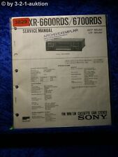 Sony Service Manual XR 6600RDS /6700RDS Car Stereo (#3829)