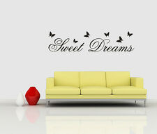Wall stickers Sweet dreams custom colour Removable Art Vinyl Decor Kids decal