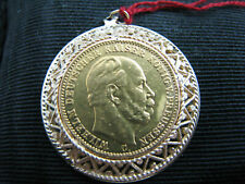 b528 22kt Yellow Gold 1872 German coin set in a 14kt Yellow Gold pendant