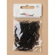 250 Hair Mini Elastic Rubber Bands Bobbles Cornrow Braiding Clear Assorted Pouch