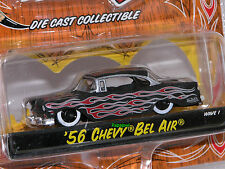 JADA Von Dutch Garage 1956 Chevrolet 56 Chevy Bel Air Flamed Wave 1 1:64 Scale