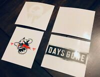 Days Gone PS4 Collector's Limited Edition Decal Sticker Set, NO GAME!, Sony Bend