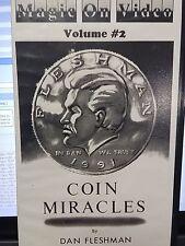 COIN MIRACLES DAN FLESHMAN VHS VIDEO TAPE VOLUME #2 ORIGINAL