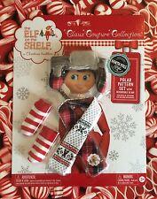 2015 POLAR PATTERN ELF SET Scarf Socks & Hat Elf on the Shelf Claus Couture NEW