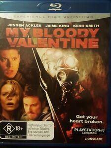 MY BLOODY VALENTINE ( Blu Ray DVD 2009)  Jensen Ackles AUST REGION VGC