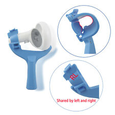 A Pair Of Tennis Paddle Grip Handle Bracket for Oculus Quest 2 Red+Blue Bracket