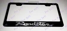 Mazda Roadster MX-5 Miata Steel Black License Plate Frame Rust Free Caps