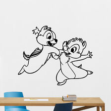 Chipmunk Wall Decal Nursery Poster Vinyl Sticker Kid Chip Dale Decor Mural 28crt
