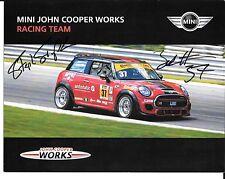 John Cooper Works Mini Cooper Race Team SIGNED Photo IMSA Sportscar Racing