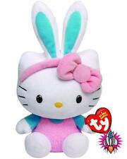 HELLO KITTY EASTER BUNNY EARS TURQUOISE BLUE TY BEANIE BABIES SOFT TOY NEW TAGS