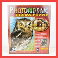 Vintage PHOTOMOSAIC Jigsaw Puzzle OWL 1000 Pieces Retro MADE in UK Photography