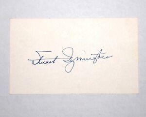 1950s STUART SYMINGTON AUTOGRAPH signature campaign pin pinback button political