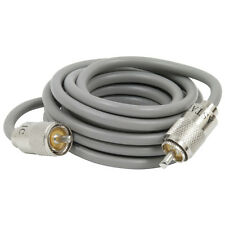 CB Radio Cable Patch Lead With Connector PL 259 ASTATIC 9FT GREY RG8X kamsat