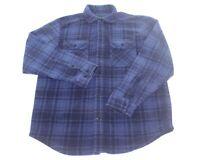 Outdoor Life Plaid Thick Fleece Button Up Shirt Jacket Sweater Mens Size Medium