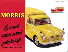Morris Minor Series III 6 cwt Van & Pick 1964 Original UK Brochure No. H&E 6427