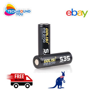2xGolisi S35 IMR 21700 3750mAh 40A Lithium Rechargeable Battery wit Battery Case