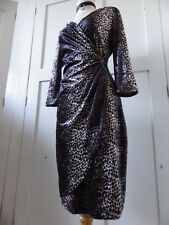 SENSUAL QUEENSPARK  VELVET ANIMAL PRINT FITTED WINTER OCCASION DRESS 10