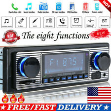 Vintage Car Bluetooth Radio MP3 Player Stereo USB AUX Classic Stereo Audio FM US
