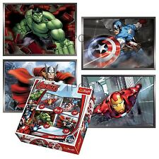 Trefl 4 in 1 35 + 48 + 54 + 70 pezzi Ragazzi Bambini Avengers HULK PUZZLE NUOVO