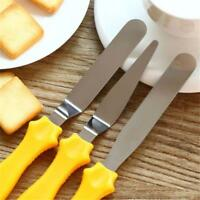 Angled Metal Icing Spatula 3-pcs Offset Cake Decorating Spatulas for Cake KI