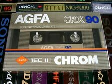 One AGFA CRX 90 CHROM Blank Audio Cassette Tape RARE! New Sealed! Vintage 1982