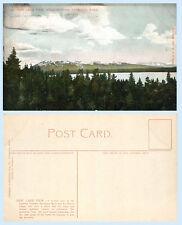 New Lake View Absarokas Mountains Yellowstone Wyoming 1903 Postcard G B Joslen
