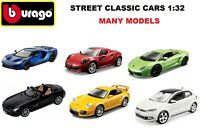 Bburago 1:32 Scale Diecast Street Classic/Plus Car Many Models BMW Audi Porsche